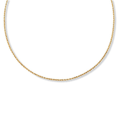 Diamond-Cut Rope Chain Necklace in 18k Gold over Sterling Silver 24