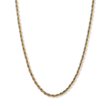 Rope Chain Necklace in 18k Gold over Sterling Silver 20