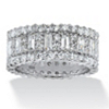 Related Item 4.80 TCW Baguette Cubic Zirconia Eternity Band in Platinum Over .925 Sterling Silver