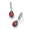 Related Item Pear-Cut Simulated Birthstone Drop Earrings in Sterling Silver