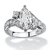 Related Item 2.49 TCW Marquise-Cut Cubic Zirconia Engagement Anniversary Ring in Sterling Silver
