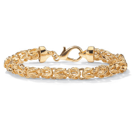 Byzantine-Link Bracelet in Yellow Gold Tone 9