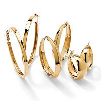 3 Pair Hoop Earrings Set ONLY $45.33