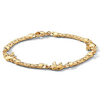 SETA JEWELRY Elephant Ankle Bracelet in Yellow Gold Tone 10