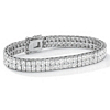 Related Item 6 TCW Princess-Cut Cubic Zirconia Silvertone Double-Row Tennis Bracelet 7 1/4