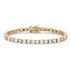 Related Item 12.40 TCW Round and Princess-Cut Cubic Zirconia 14k Gold-Plated Tennis Bracelet 7 1/4