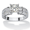 Related Item 2.42 TCW Princess-Cut Cubic Zirconia 10k White Gold Engagement Anniversary Ring