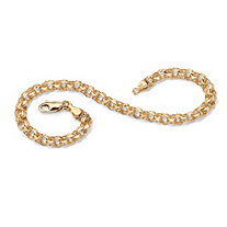 SETA JEWELRY 10k Yellow Gold-Plated Rolo-Link Bracelet 7.5