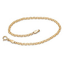 SETA JEWELRY 10k Yellow Gold Bismark-Link Bracelet 7.25