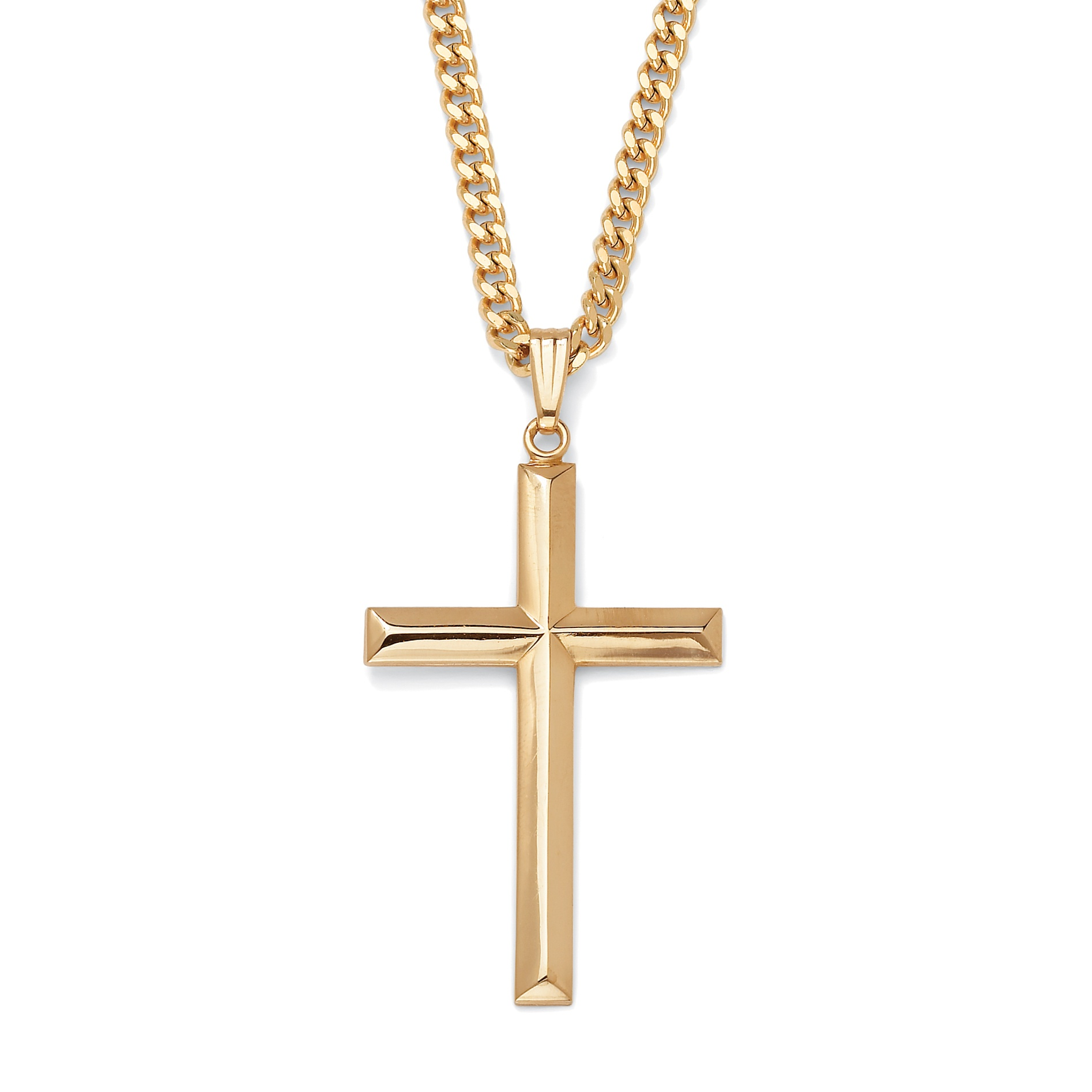 Cross pendant gold filled and gold ion plated chain 24 at palmbeach cross pendant gold filled and gold ion plated chain 24 at palmbeach jewelry aloadofball