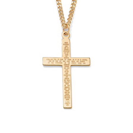 Lord's Prayer Gold-Filled Pendant and Gold Ion-Plated Chain 24