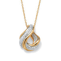 SETA JEWELRY Diamond Accent Swirled Pendant Necklace in 18k Gold over Sterling Silver