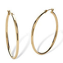 "10k Yellow Gold Hoop Earrings (1 1/2"")"
