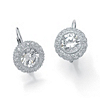 Related Item 5.02 TCW Round Bezel-Set Cubic Zirconia Platinum over Sterling Silver Drop Earrings
