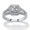 Related Item 1.63 TCW Princess-Cut Cubic Zirconia Engagement Ring in Platinum over Sterling Silver