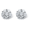 Related Item 2.80 TCW Round Cubic Zirconia Platinum over Sterling Silver Stud Earrings