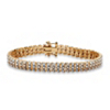 Related Item Diamond Accent S-Link Tennis Bracelet 18k Gold-Plated 8