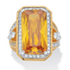 Related Item 45.52 TCW Emerald-Cut Canary Yellow Cubic Zirconia Cocktail Ring 14k Yellow Gold-Plated