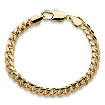 Men's 10.5 mm Curb-Link Bracelet in Gold Tone 10""