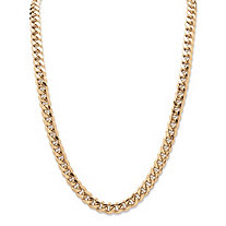 "Men's Curb-Link Chain in Yellow Gold Tone 24"" (10.5mm)"