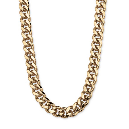 "Men's Curb-Link Chain in Yellow Gold Tone 30"" (10.5mm) at PalmBeach Jewelry"