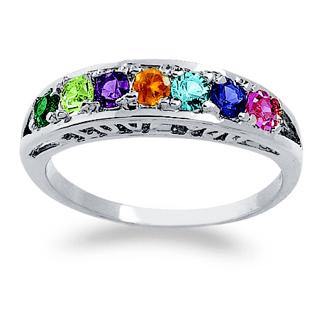 "Birthstone ""I Love You"" Ring in Sterling Silver at PalmBeach Jewelry"