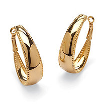 SETA JEWELRY Gold Ion-Plated Stainless Steel Hoop Earrings (39mm)