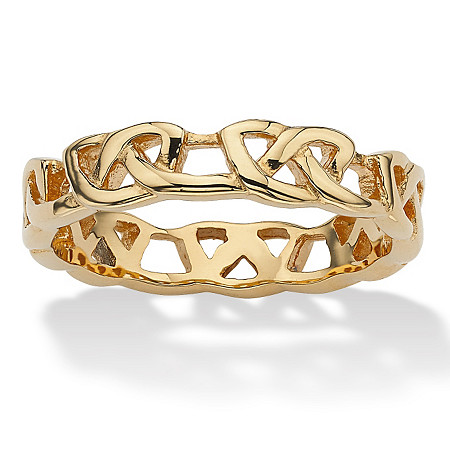 Love Knot Band in Gold Ion-Plated Stainless Steel at PalmBeach Jewelry
