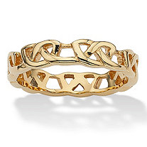 Love Knot Band in Gold Ion-Plated Stainless Steel