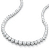 Related Item 26.23 TCW Round Cubic Zirconia Silvertone Eternity Necklace 16