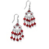 Related Item Round Birthstone Silvertone Chandelier Earrings