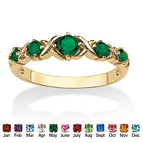 SETA JEWELRY Round Birthstone 14k Gold-Plated