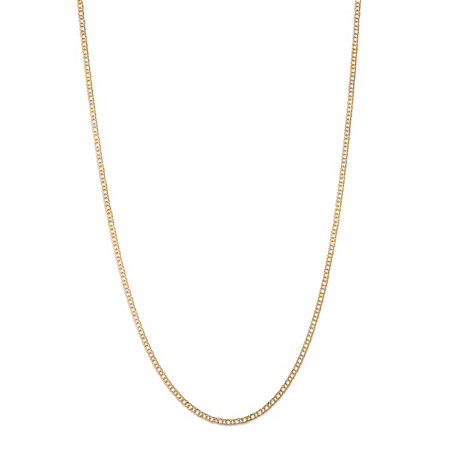 Double Curb-Link Necklace in 10k Yellow Gold 20