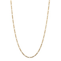 Figaro-Link Necklace In 10k Yellow Gold ONLY $78.95