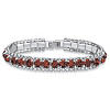 Related Item Round Birthstone and Crystal Accent Tennis Bracelet in Silvertone 7