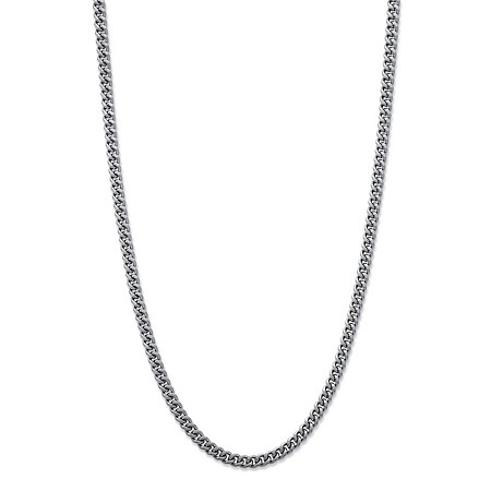 Men's Curb-Link Chain Necklace in Stainless Steel 22