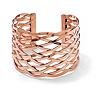 Related Item Lattice Cuff Bracelet Rose Gold-Plated