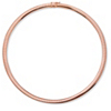 Related Item Rose Gold-Plated Omega-Link Collar Necklace 18