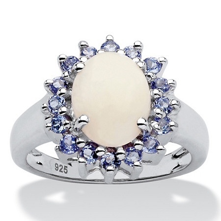 Opal and .64 TCW Tanzanite Ring in Sterling Silver at PalmBeach Jewelry
