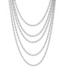 Related Item Silvertone Multi-Chain Beaded Waterfall Necklace 36