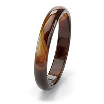 "Genuine Brown Agate Bangle Bracelet 9"" (13mm)"