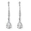 Related Item 8.39 TCW Pear-Cut Cubic Zirconia Silvertone Drop Earrings