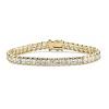 Related Item 16.65 TCW Princess-Cut Cubic Zirconia 14k Gold-Plated Straight Line Tennis Bracelet 7 1/2