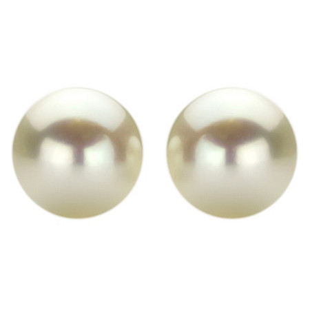 White Cultured Freshwater Pearl Stud Earrings in Sterling Silver at PalmBeach Jewelry