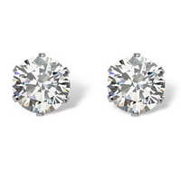 Round Cubic Zirconia Stud Earrings ONLY $5.99