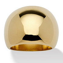 SETA JEWELRY Dome 18k Gold-Plated Ring