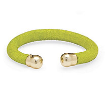 Lime Green Stingray Bracelet in Yellow Gold Tone 8""