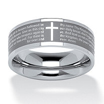 SETA JEWELRY Lord's Prayer Ring in Stainless Steel