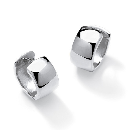 "Huggie-Hoop Earrings in .925 Sterling Silver (3/4"") at PalmBeach Jewelry"