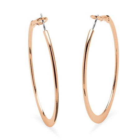 Hoop Earrings in Rose Gold-Plated With Surgical Steel Posts at PalmBeach Jewelry